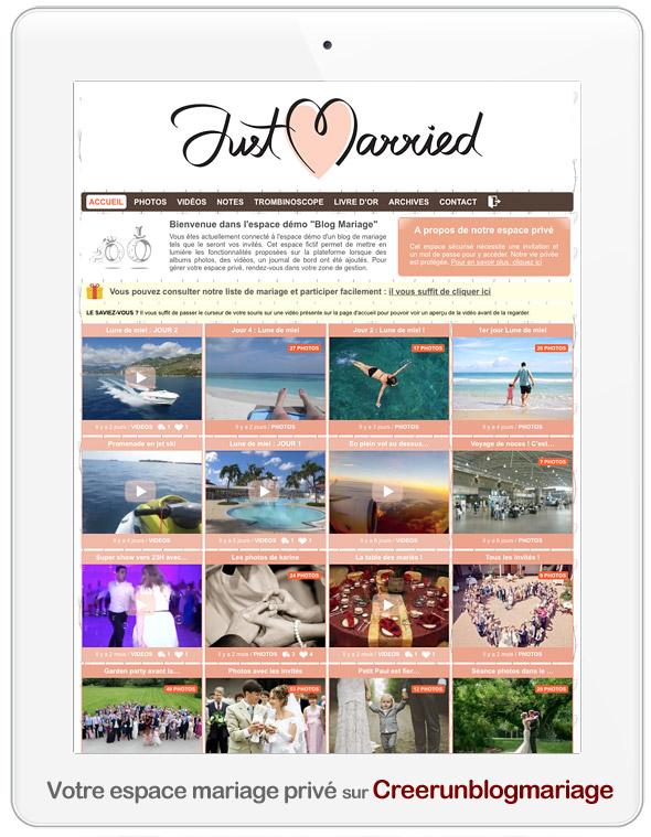 Créer un blog mariage sécurisé et privé pour partager ses photos et vidéos avec ses invités